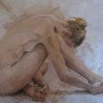 AC Aktmaleri 1, olje, 70x100 cm