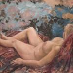 Aktmaleri, olje, 80x100 cm