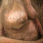 Detalj av aktmaleri, olje