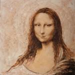 Fritt etter Leonardo da Vincis «Mona Lisa», olje (Foto av maleri: Arild Hagen - www.dittfoto.no)