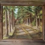 «Innkjørsel» / akryl, (ca.50x60 cm uten ramme)