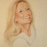 Portrett (Marit), kritt/softpastell