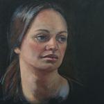«Stine» /portrett, olje (ca.40x40 cm)